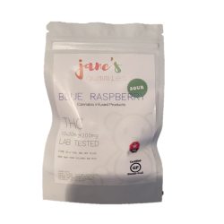 Jane's Sour THC Weed Gummie - Blue Raspberry