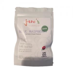 Jane's Sour THC Weed Gummie - Blue Raspberry