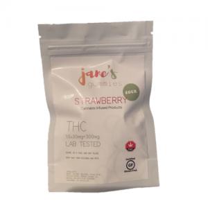 Jane's Sour THC Weed Gummie - Strawberry
