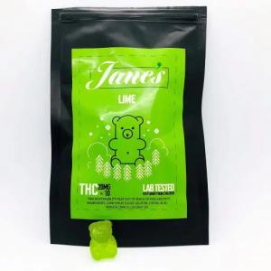 Jane's THC Weed gummies 10mg - Lime