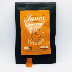 Jane's THC Weed gummies 10mg - Orange Cream